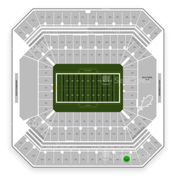 Tampa Bay Buccaneers at Raymond James Stadium Section 340 View