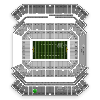 South Florida Bulls Football at Raymond James Stadium Section 332 View