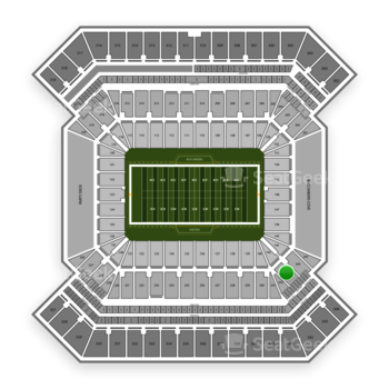 NCAA Football at Raymond James Stadium Section 243 View