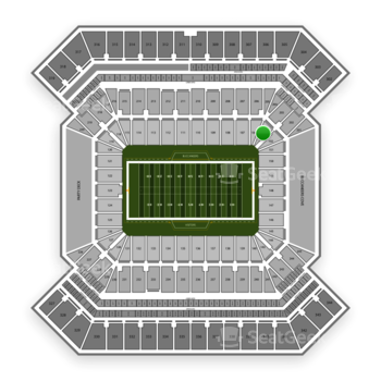 South Florida Bulls Football at Raymond James Stadium Section 103 View