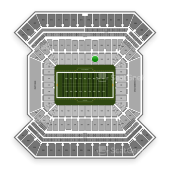 South Florida Bulls Football at Raymond James Stadium Section 109 View
