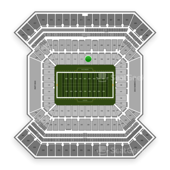 South Florida Bulls Football at Raymond James Stadium Section 110 View