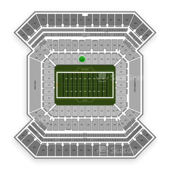 South Florida Bulls Football at Raymond James Stadium Section 111 View