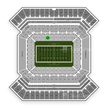 South Florida Bulls Football at Raymond James Stadium Section 112 View
