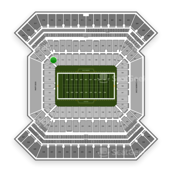 South Florida Bulls Football at Raymond James Stadium Section 118 View