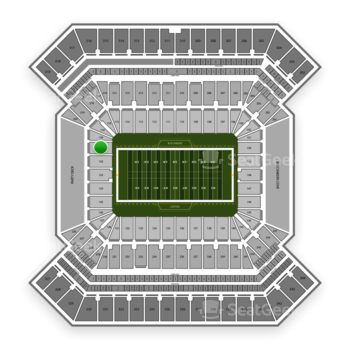 South Florida Bulls Football at Raymond James Stadium Section 121 View