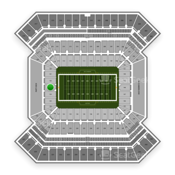 South Florida Bulls Football at Raymond James Stadium Section 123 View