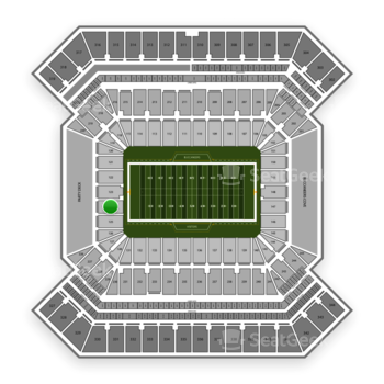 South Florida Bulls Football at Raymond James Stadium Section 124 View