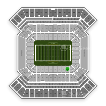South Florida Bulls Football at Raymond James Stadium Section 139 View