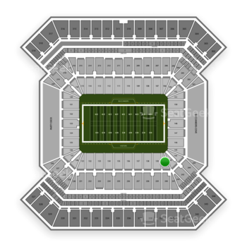 South Florida Bulls Football at Raymond James Stadium Section 140 View