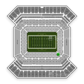 South Florida Bulls Football at Raymond James Stadium Section 143 View