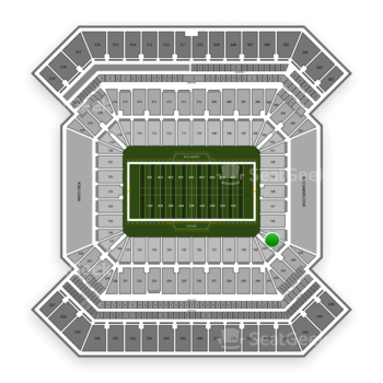 South Florida Bulls Football at Raymond James Stadium Section 144 View