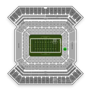 South Florida Bulls Football at Raymond James Stadium Section 147 View