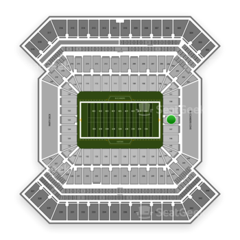 South Florida Bulls Football at Raymond James Stadium Section 148 View