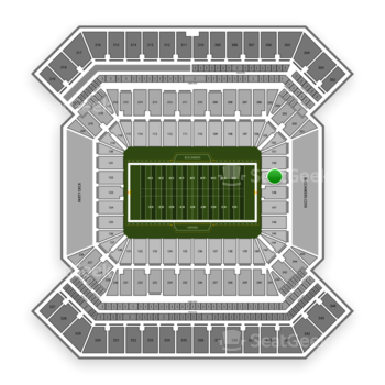 South Florida Bulls Football at Raymond James Stadium Section 149 View