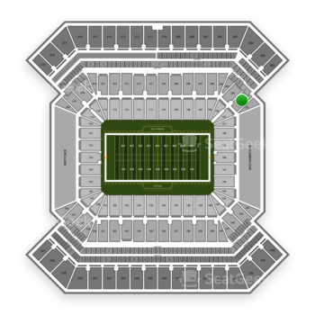 South Florida Bulls Football at Raymond James Stadium Section 202 View