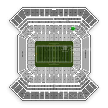 South Florida Bulls Football at Raymond James Stadium Section 206 View