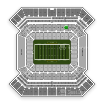 South Florida Bulls Football at Raymond James Stadium Section 207 View
