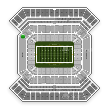 South Florida Bulls Football at Raymond James Stadium Section 220 View