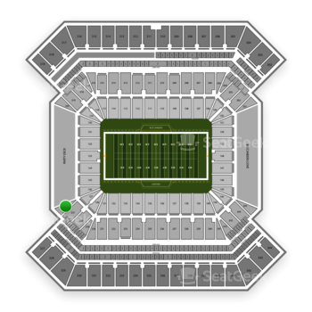 South Florida Bulls Football at Raymond James Stadium Section 226 View