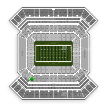 South Florida Bulls Football at Raymond James Stadium Section 230 View