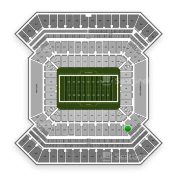 South Florida Bulls Football at Raymond James Stadium Section 242 View