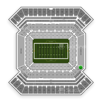 South Florida Bulls Football at Raymond James Stadium Section 245 View