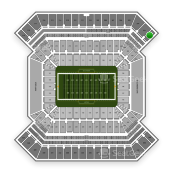 South Florida Bulls Football at Raymond James Stadium Section 302 View