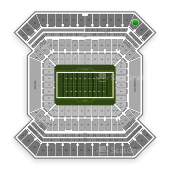 South Florida Bulls Football at Raymond James Stadium Section 304 View