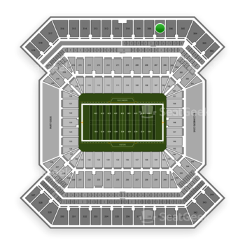 South Florida Bulls Football at Raymond James Stadium Section 307 View