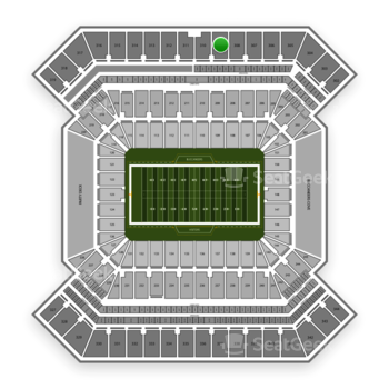 South Florida Bulls Football at Raymond James Stadium Section 309 View