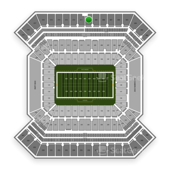 South Florida Bulls Football at Raymond James Stadium Section 310 View