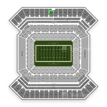 South Florida Bulls Football at Raymond James Stadium Section 311 View
