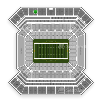South Florida Bulls Football at Raymond James Stadium Section 314 View