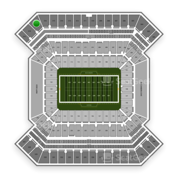 South Florida Bulls Football at Raymond James Stadium Section 317 View