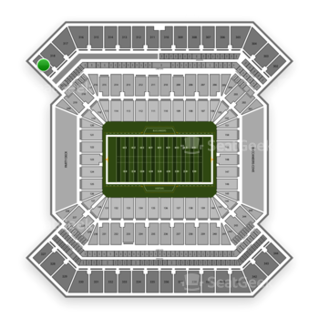 South Florida Bulls Football at Raymond James Stadium Section 319 View