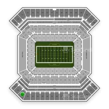 South Florida Bulls Football at Raymond James Stadium Section 329 View