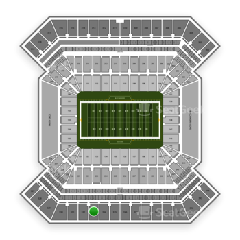 South Florida Bulls Football at Raymond James Stadium Section 333 View