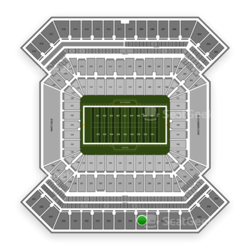 South Florida Bulls Football at Raymond James Stadium Section 337 View