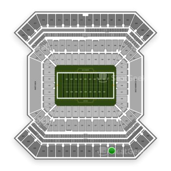 South Florida Bulls Football at Raymond James Stadium Section 339 View