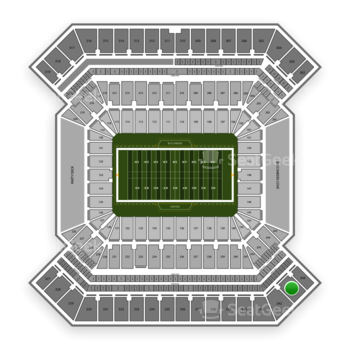 South Florida Bulls Football at Raymond James Stadium Section 343 View
