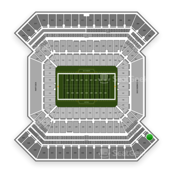 South Florida Bulls Football at Raymond James Stadium Section 344 View
