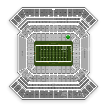 Tampa Bay Buccaneers at Raymond James Stadium Section 107 View