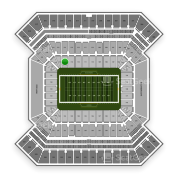 Tampa Bay Buccaneers at Raymond James Stadium Section 114 View
