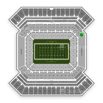 Tampa Bay Buccaneers at Raymond James Stadium Section 201 View