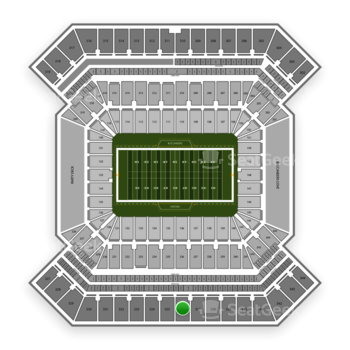 Tampa Bay Buccaneers at Raymond James Stadium Section 336 View