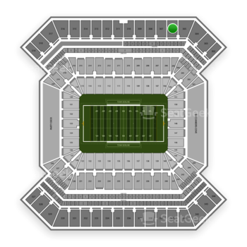 College Football Playoff National Championship Game at Raymond James Stadium Section 306 View