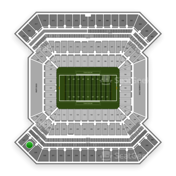 College Football Playoff National Championship Game at Raymond James Stadium Section 328 View