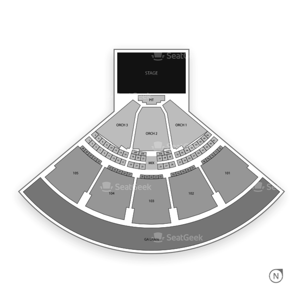 Verizon Wireless Amphitheatre Seating Chart Concert