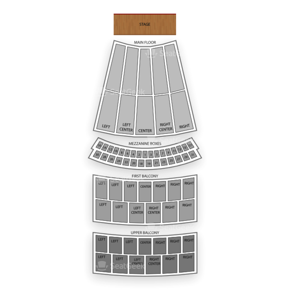 Civic Opera House Seating Chart Concert